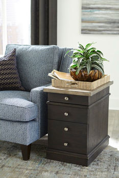 Picture of HANCOCK CHARGING CHAIRSIDE TABLE